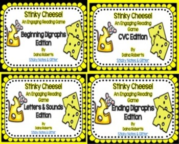 Stinky Cheese! Reading Game - Literacy Bundle {5 Differentiated Games}