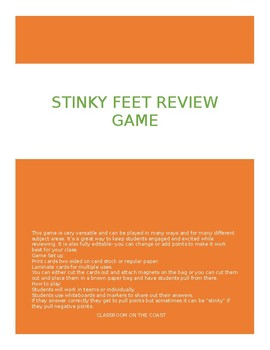Stinky Feet Review Game