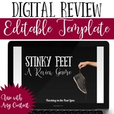 Distance Learning Stinky Feet Review Game Editable Template