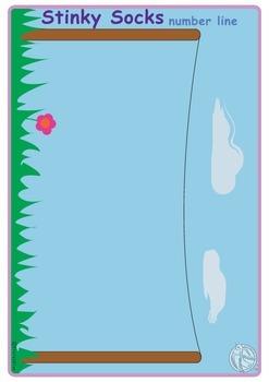 Maths Centre Game:Stinky Socks- A number line activity 0-20 (Kindergarten)