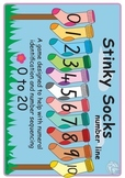 Maths Centre Game:Stinky Socks- A number line activity 0-2