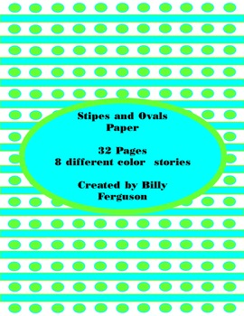 Stipes and Ovals Spring Background Paper