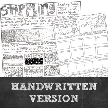 Shading How Tp: Middle or High School Stippling Drawing Activity