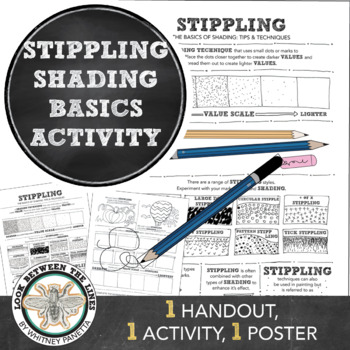 Shading with Stippling How To: Middle or High School Art Drawing Activity