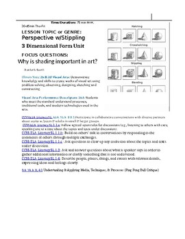 Stippling in One Point Perspective K-8