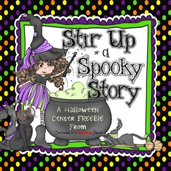 Stir Up a Spooky Story – A Halloween Center FREEBIE
