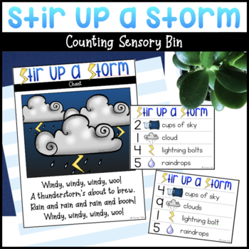 Stir Up a Storm |  Preschool Counting Activity