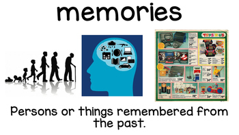 Stirring Up Memories *Treasures Reading Series* Vocabulary Cards (Unit 3, L5)