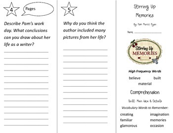 Stirring Up Memories Trifold - Treasures 2nd Grade Unit 6 Week 2 (2009)