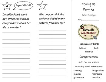 Stirring Up Memories Trifold - Treasures 2nd Grade Unit 6