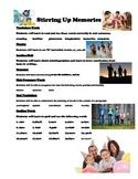Stirring Up Memories -Weekly Skill Sheet - 2nd grade treasures