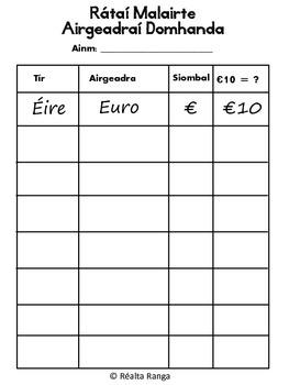 Stáisiúin Mhata - Airgead (as Gaeilge) // Maths Stations - Money (in Irish)