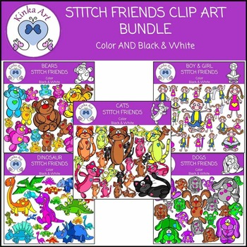 Stitch Friends Clip Art Bundle