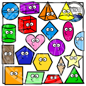 Shapes Clipart (Smiley Version)