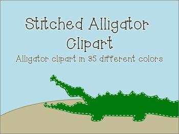 Stitched Alligator Clipart