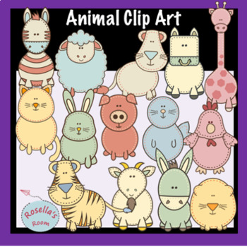 Stitched Animals Clip Art