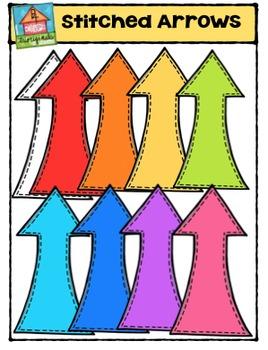 Stitched Arrows {P4 Clips Trioriginals Digital Clip Art}