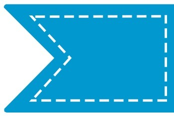 Stitched Banner Flag Clipart / Ribbon Journal Flag Tabs -1 ...