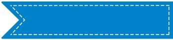 """Stitched Banner Flag Clipart / Ribbon Journal Flag Tabs -4.25"""" X 1"""" - 52 Colors!"""