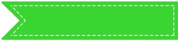 """Stitched Banner Flag Clipart / Ribbon Journal Flag Tabs 4.25"""" X 1"""" - 53 Colors!"""