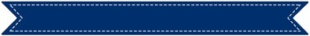 """Stitched Banner Flag Clipart / Ribbon Journal Flag Tabs - 8.5"""" X 1"""" - 52 Colors!"""