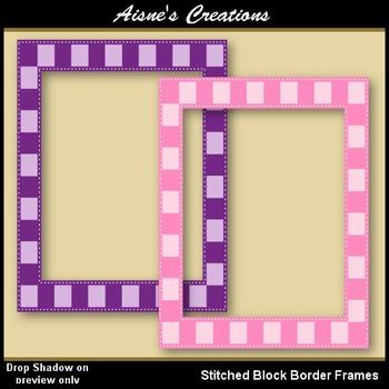 Stitched Block Border Frames
