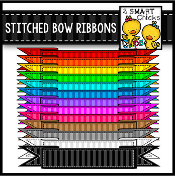 Stitched Bow Ribbons
