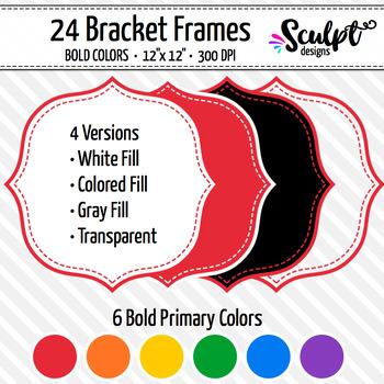 Frames ~ Stitched Bracket Frames ~ Bold Colors