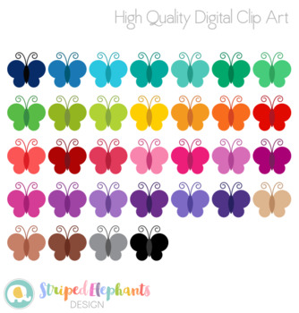 Stitched Butterfly Clip Art