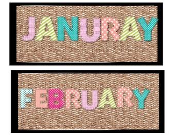 Stitched Calendar