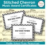 Stitched Chevron Music Award Certificates