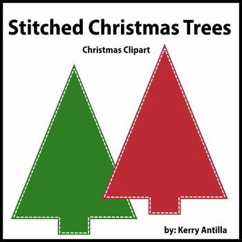 Stitched Christmas Trees