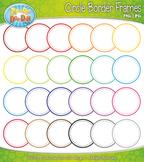 Stitched Circles Border Frames Clipart {Zip-A-Dee-Doo-Dah Designs}