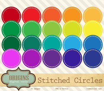 Stitched Circles Clipart