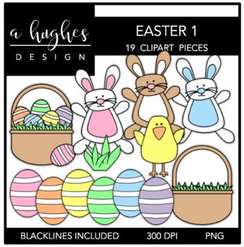 Easter 1 Clipart {A Hughes Design}