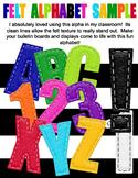 Stitched Felt Alphabet Bundle