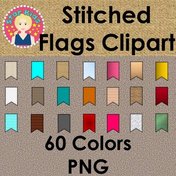 Stitched Flags Clipart - COMMERCIAL USE OK #letfreedomring