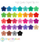 Stitched Flowers Clip Art