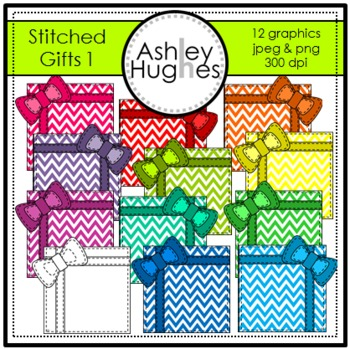 Stitched Gifts 1 Clipart {A Hughes Design}