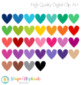 Stitched Heart Clip Art 2