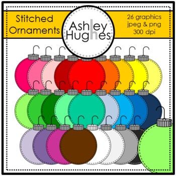 Stitched Ornaments Clipart {A Hughes Design}
