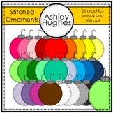 Stitched Ornaments Clipart {A Hughes Design}