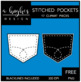 FREE Stitched Pockets {Graphics for Commercial Use}