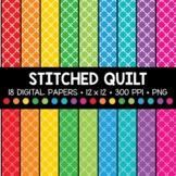 Stitched Quilt Digital Paper