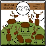 Stitched Reindeer Clipart {A Hughes Design}