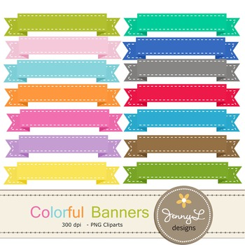 Stitched Ribbon Banner clipart