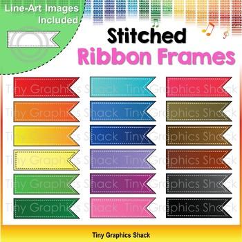 Stitched Ribbon Frames