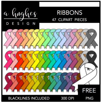 FREE Ribbons Clipart {A Hughes Design}