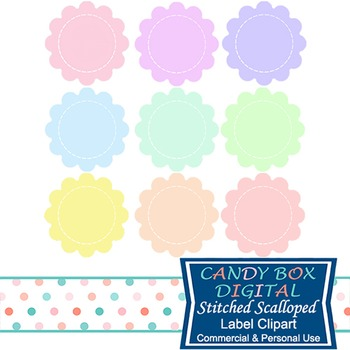 Stitched Scalloped Label Tags
