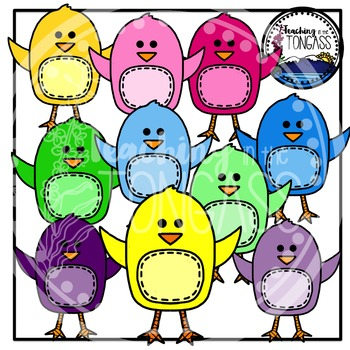 Easter Clipart Stitched Chicks Bundle